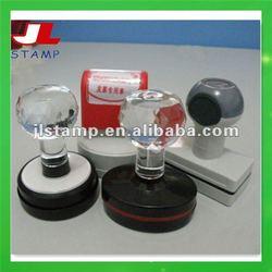 Crystal Handle Flash pre-inked Foam Stamp