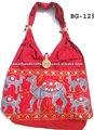 moda feminina do algodão da lona designers de lantejoulas com cercadura bordada a mão pintado de festa à noite bolsas de ombro bolsas