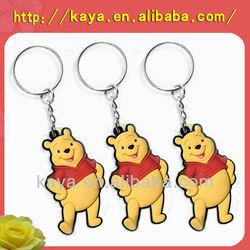 2014 Popular soft rubber promotional key chain, pvc key chain