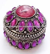 Indian Ethnic Jewelry Gift Box Pill Box Handmade Handicrafts
