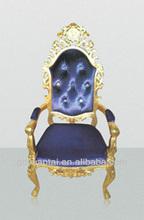 Cheap Royal King Queen Throne Chateau Hotel Chair H-006