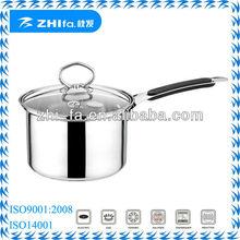 Capsuled bottom stainless steel induction sauce pan milk pan milk pot