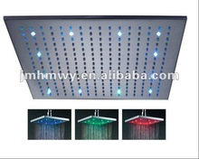 LED shower 12 inches chrome color changing