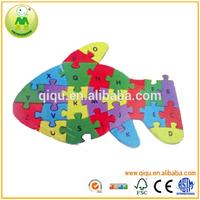 Fish Shape Children Intelligence Wooden Puzzle Cube