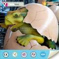 بيض الديناصور الطفل متحركالنحت الاصطناعية الملونة