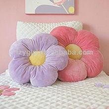 flower shape pillows for kids girls room & baby nursery, decorative push throw pillow