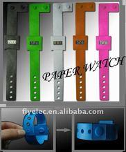 Hot DIY Digital Paper Watch,fancy digital paper watch
