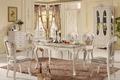 Madeira maciça mesa de jantar e cadeira/estilo clássico francês mobília da sala fd001#