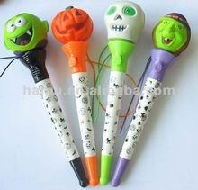 Funny Hallowmas skull pumpkin designed led light pen for Hallowmas Christmas gfts