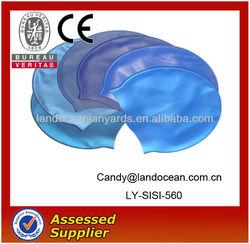 2014 Fashion Custom logo design Cheap Rubber Swim cap