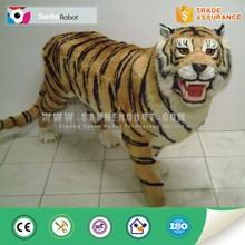 amusement park life size tiger animatronic sculptures