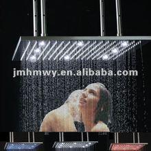"led color changing shower head 20"" for 2014 bathroom"