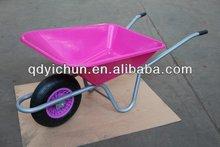 garden wheelbarrow, plastic tray europe garden wheel barrow, wheelbarrow WB6424T