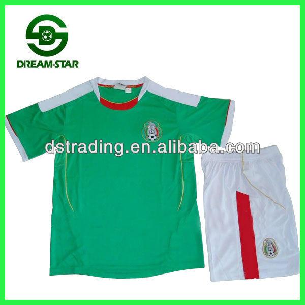 México camiseta de fútbol 2014,14 uniformes de fútbol, desgaste del fútbol