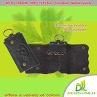 Natural genuine leather wallet and key holder factory made directly