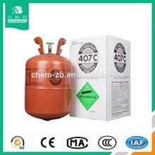 Un/gaz c. Gaz réfrigérant r407c, 25lb r407c avec des prix bas, 99.9% pureté. R134a/r404a/r