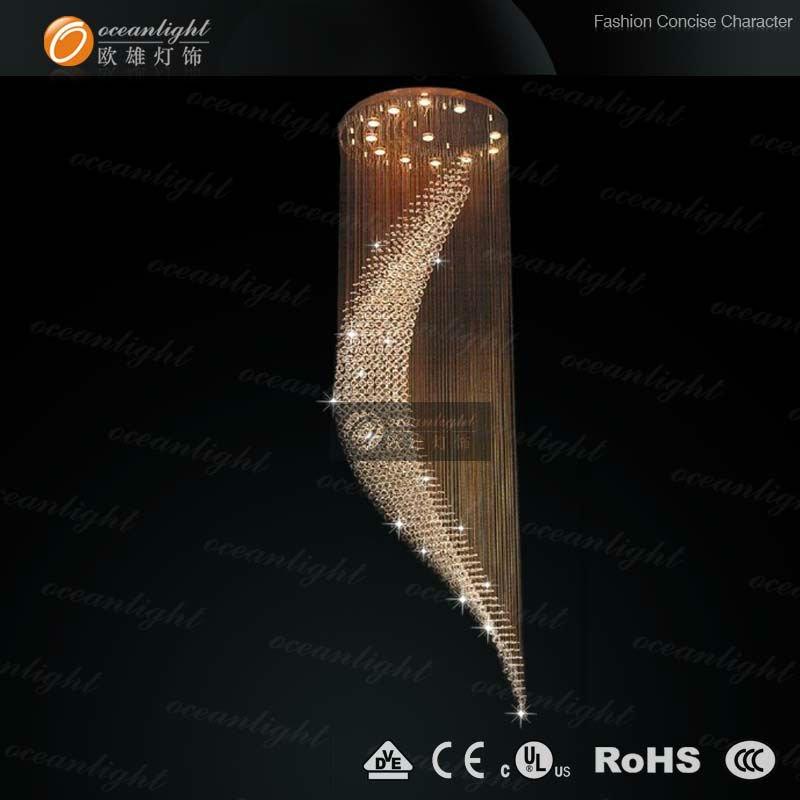 Gran cristal moderna l mpara de ara a om718 80 luces techo - Lampara de arana moderna ...