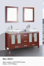 Market Hot Sell Double Sink Modern Bathroom Cabinet Set MJ-3001