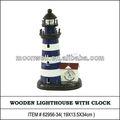 Phare en bois avec horloge, Promotionnel, Replica, Nautique cadeau, Souvenir, Artisanat, Décoration de l'hôtel, Marine, Home decor