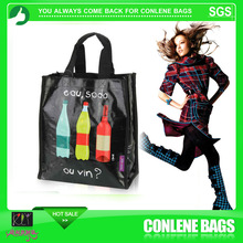 6 bottle wine bottle bag,bottle cooler bag,recycled plastic bottle tote bag