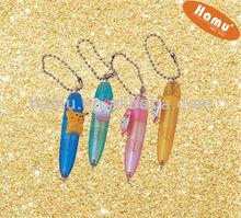 colorful mini cute Ballpen wtih key chain for kids