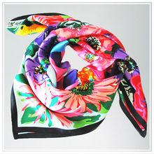 Custom TOP quality digital printing 100% silk scarf