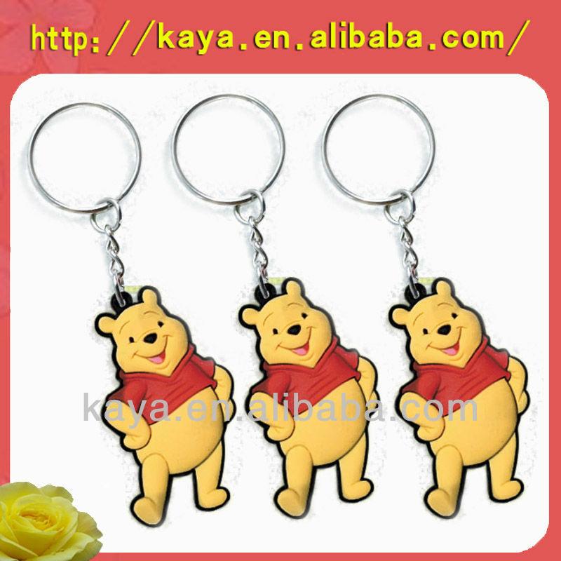 2015 Popular soft rubber promotional key chain, pvc key chain