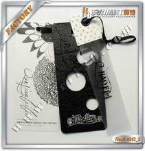 Price material benefit adhesive hang tags black hang tags