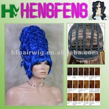 Fashion synthetic blue costume wig blue costume wig
