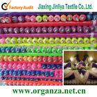 Nylon sheer decorative organza fabric