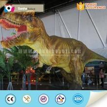 Amusement park life-size animatronic t-rex dinosaur model