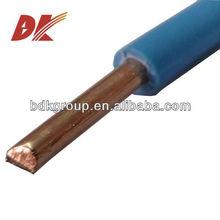 single copper core pvc insulated electric wire 4mm