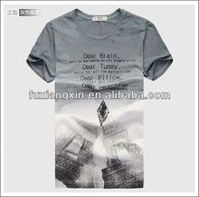 2014 Custom 100% cotton high quality o-neck printed men tshirts