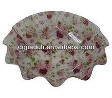 Dongguan New design printed flower acrylic fruit tray