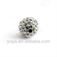 CP5060-1 100pcs/bag PP13 white clay pave czech crystal shamballa beads