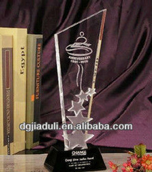 shenzhen clear acrylic sport souvenir trophy design for badminton