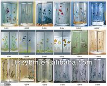 colorful glass design shower enclosure