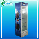 Promotional low cost slim vertical small display fridge refrigerators case