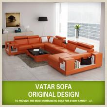 VATAR original design imported genuine leather sofa D1001