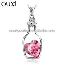 OUXI wish bottle necklace &ouxi jewelry made with Swarovski elements