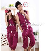 220gsm 1.00 cotton unisex zipper up sleeveless hoodie korea style