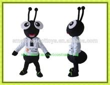 Precioso negro ant traje de la mascota de peluche material de negro del traje para adultos