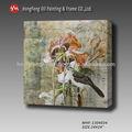 Venta caliente de alta- calidad de mano- moderna hecha de pared decorativos animal lienzo de pintura al óleo-- mhf- 1304034