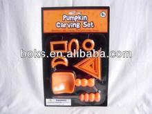 plastic Halloween pumpkin carving sets