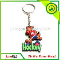 Promotional beautiful hockey pvc keychain 3d