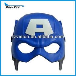 Fancy Dress Hero Mask Plastic The American Captain Mask