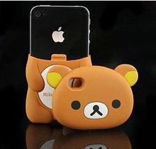 3D Brown Rilakkuma Bear Hard Case Cover for iPhone 4 4S 4G