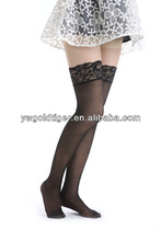 Clothing Importer China Women Thigh High Band Stay Up Sheer Lace Top Silicone Tube Nylon Stockings