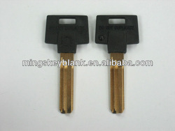 high quality black plastic head with nickel silver blank key