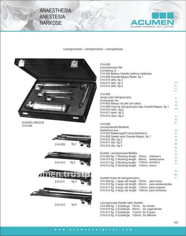 Laryngoscope Blades And Handles Miller Laryngoscope Blades